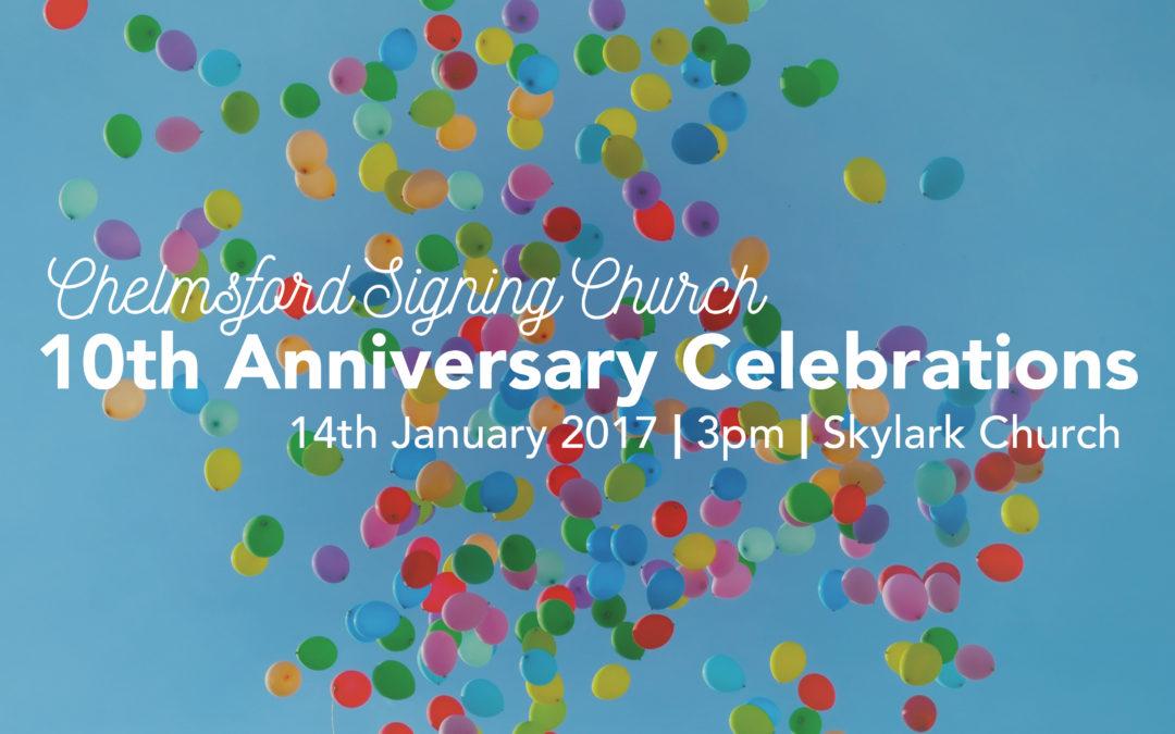 Signing Church 10 Year Anniversary